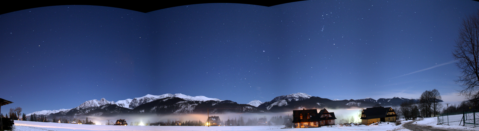 The Tatra Mountains and winter stars