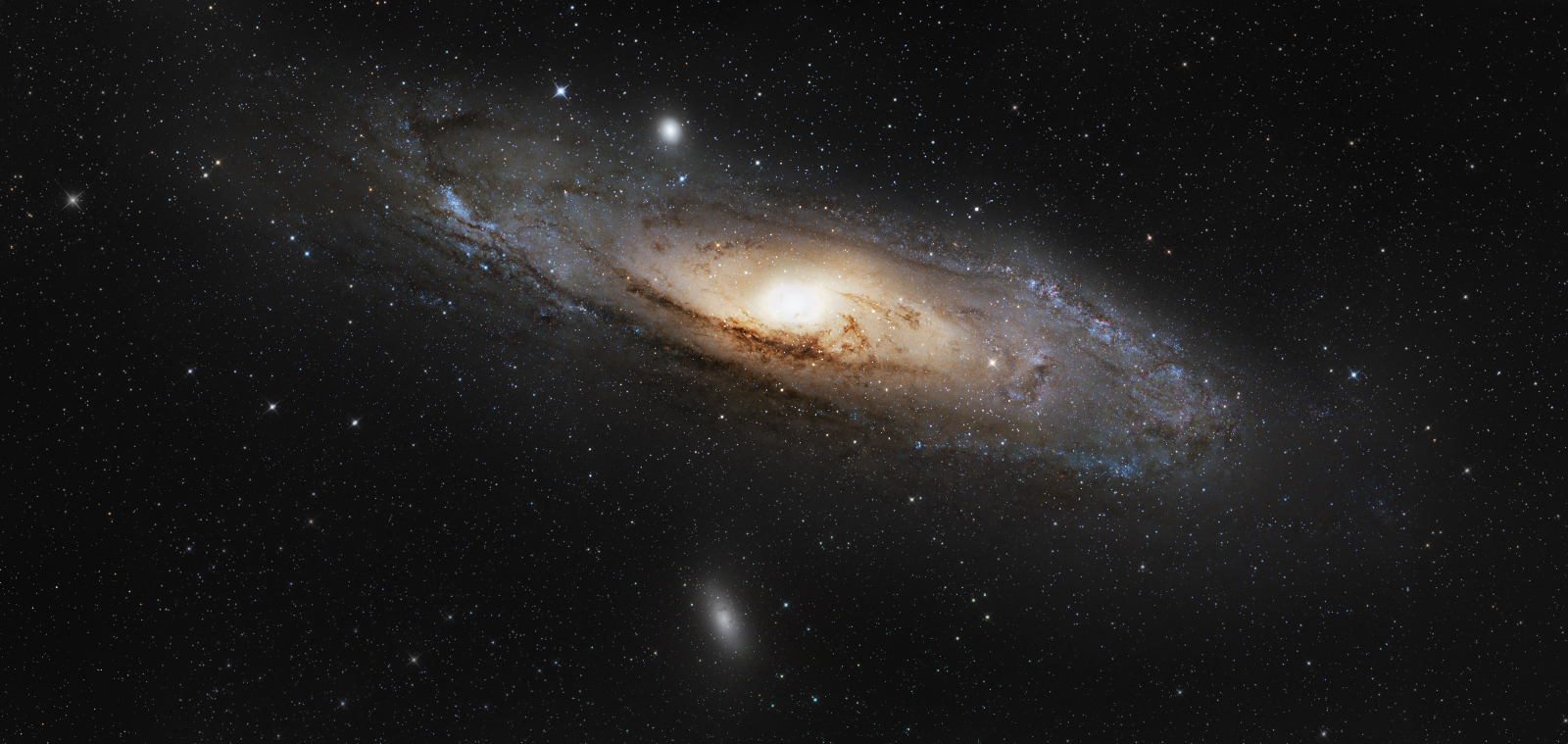 Mosaic of galaxy M31 in Andromeda