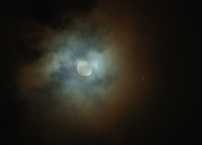 Jupiter - Moon - Konjunktion 02.11.2012